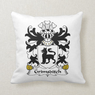 Grimsditch Family Crest Throw Pillows