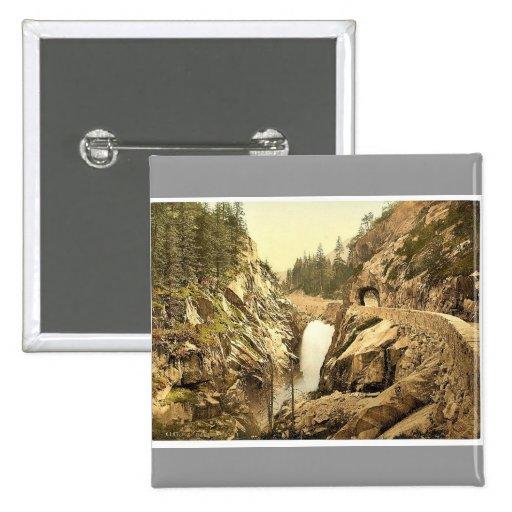 Grimselstrasse, caídas de Handegg, I, Bernese Ober Pin