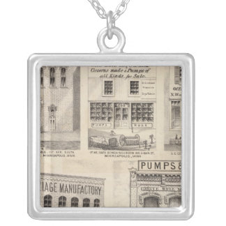 Grimshaw and Town, Minnesota Silver Plated Necklace