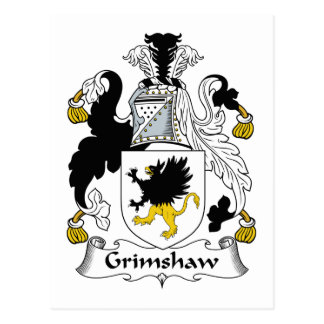 Grimshaw Family Crest Post Card