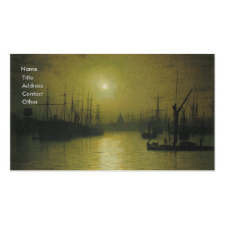 Grimshaw's Nightfall Thames Business Card
