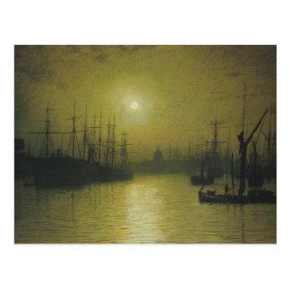 Grimshaw's Nightfall Thames Postcard