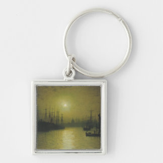 Grimshaw's Nightfall Thames Silver-Colored Square Keychain