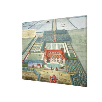 Grimsthorp in the county of Lincoln engraved by Jo Canvas Print