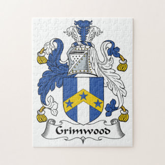 Grimwood Family Crest Jigsaw Puzzle