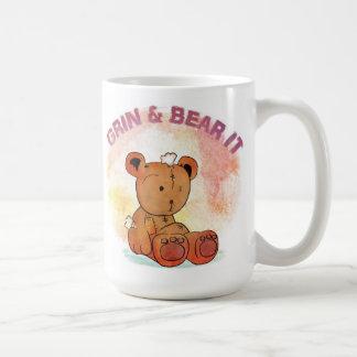 grin and bear it coffee mug