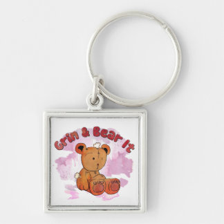 grin and bear it keychain