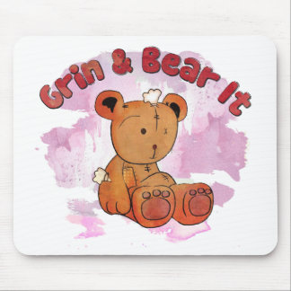 grin and bear it mousepad