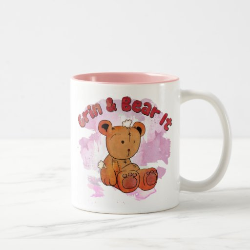 grin and bear it mugs
