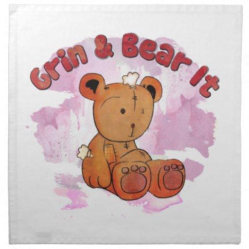 grin and bear it napkin