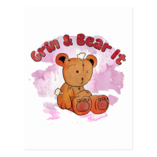 grin and bear it postcard