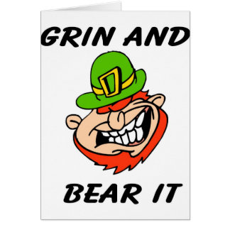 Grin and bear it St. Patrick's Day Leprachaun gift Card