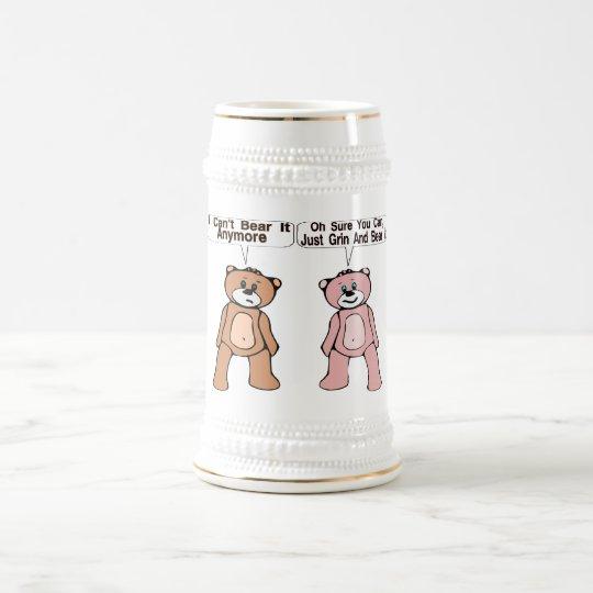 Grin & Bear It Beer Stein