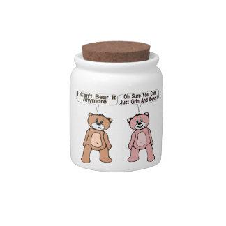 Grin & Bear It Candy Jar
