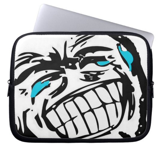 Grin Comic Face Computer Sleeve