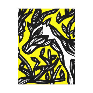 Grin Energetic Giving Upright Canvas Print