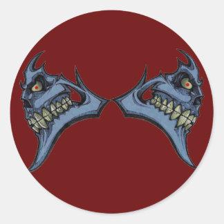 Grin Twice Classic Round Sticker