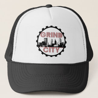 Grind City (Red & Black) Trucker Hat