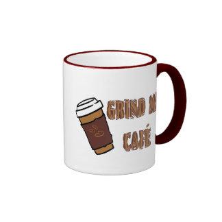 Grind Me Café Cup Ringer Coffee Mug