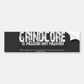 Grindcore es pasión pegatina para auto