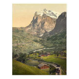 Grindelwald and Mount Wetterhorn, Bernese Oberland Postcard