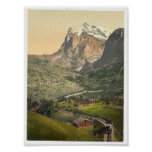 Grindelwald and Mount Wetterhorn, Bernese Oberland Print