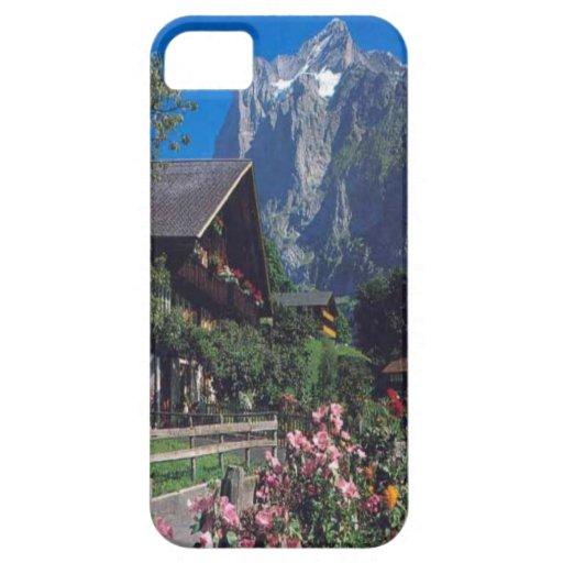 Grindelwald, casa del pueblo del chalet iPhone 5 Case-Mate fundas
