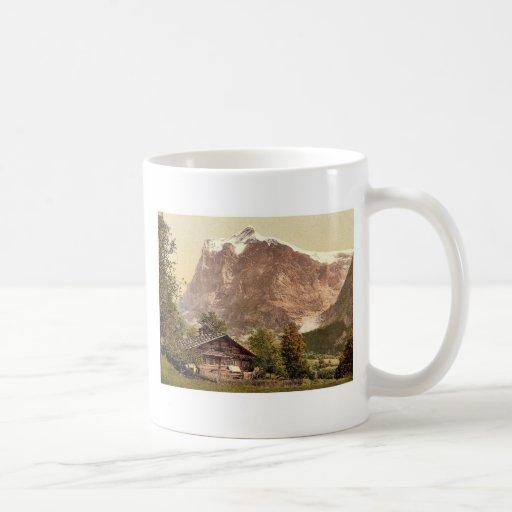 Grindelwald, chalet y soporte Wetterhorn, Bernese Tazas De Café
