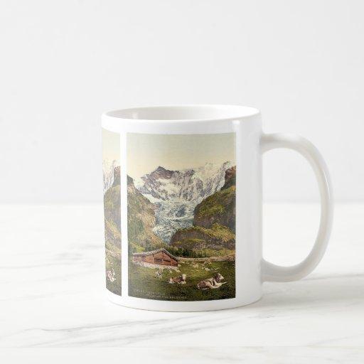 Grindelwald, chalet y Vischerhorn, Bernese Oberl Taza