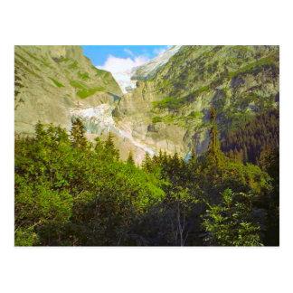 Grindelwald, glacier in summer postcard
