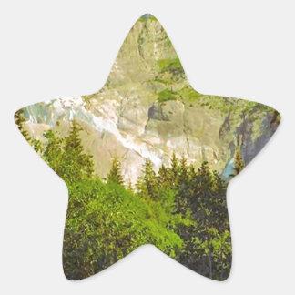 Grindelwald, glacier in summer star sticker