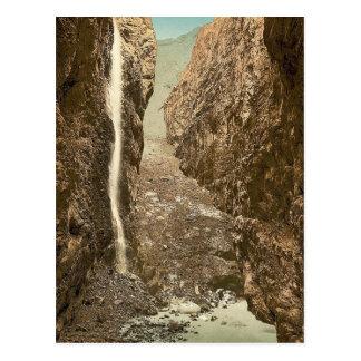 Grindelwald, grotto, II, with waterfall, Bernese O Postcard