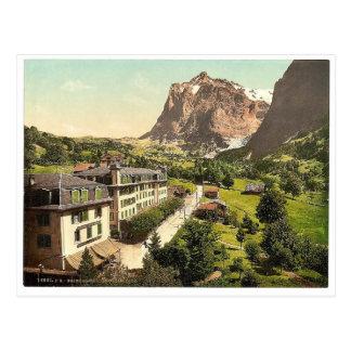 Grindelwald, Hotel Eiger, Bernese Oberland, Switze Postcard