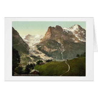 Grindelwald iglesia y Eiger Bernese Oberland S Felicitaciones