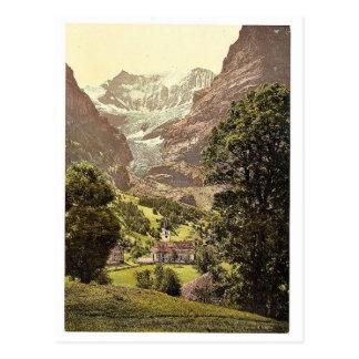 Grindelwald iglesia y montaña de Eiger Bernese O Postales