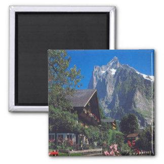 Grindelwald, Jungfrau region 2 Inch Square Magnet