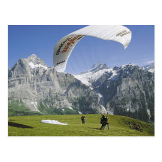 Grindelwald Paragliding Postcard