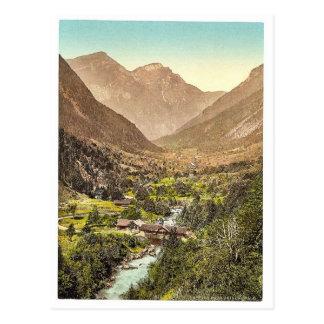 Grindelwald, road from Zwiellutschine, Bernese Obe Postcard