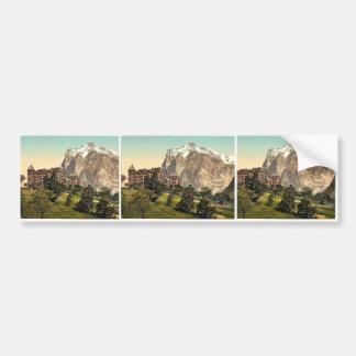 Grindelwald, view of Hotel Baren and Wetterhorn Mo Bumper Sticker