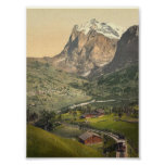 Grindelwald y soporte Wetterhorn, Bernese Oberland Impresiones