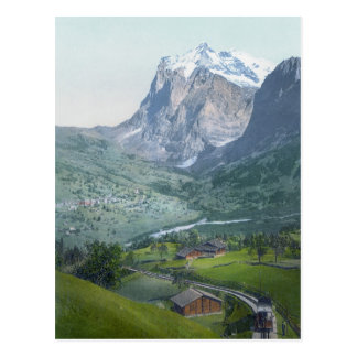 Grindelwald y Wetterhorn Tarjeta Postal