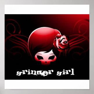 GRINDER GIRL MINI POSTER