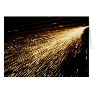 Grinding Sparks Greeting Card