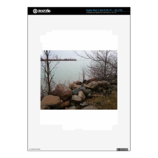 Grindstone City Autumn Fall Shoreline Sandstone Decal For iPad 3