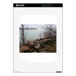 Grindstone City Autumn Fall Shoreline Sandstone Decals For iPad 2