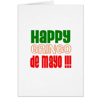Gringo feliz de Mayo Tarjeta De Felicitación