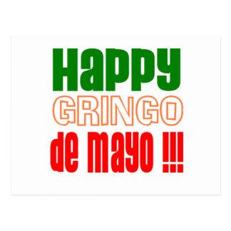 Gringo feliz de Mayo Tarjeta Postal