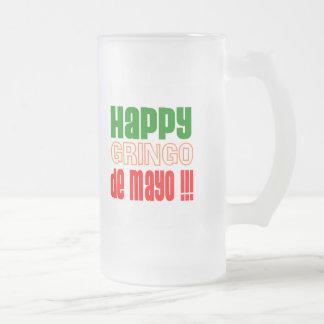 Gringo feliz de Mayo Taza De Cristal