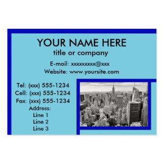 GRINGOLANDIA! (New York cityscape / skyline) ~ Large Business Cards (Pack Of 100)