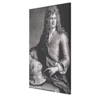 Grinling Gibbons (1648-1721) (litho) Lona Estirada Galerias